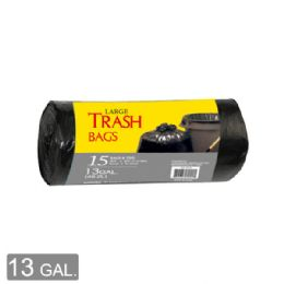 96 Units of Trash Bag Roll Thirteen Gallon Fifteen Count - Garbage & Storage Bags