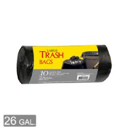 96 Units of Trash Bag Roll Twenty Six Gallon Twelve Count - Garbage & Storage Bags