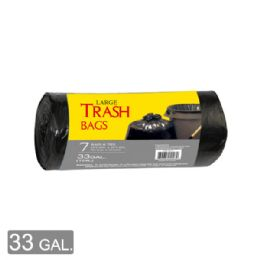 96 Units of Trash Bag Roll Thirty Three Gallon Eight Count - Garbage & Storage Bags