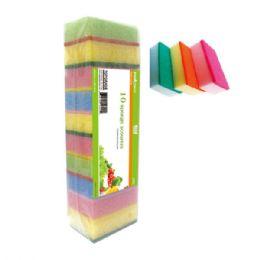 48 Units of Ten Piece Scouring Sponges - Scouring Pads & Sponges