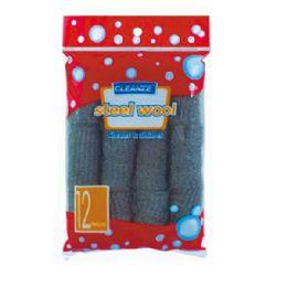 144 Units of Twelve Piece Steel Wool - Scouring Pads & Sponges