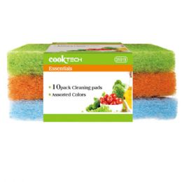 96 Units of 3 Piece Scouring Pad - Scouring Pads & Sponges
