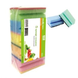 69 Units of Five Piece Scouring Sponge - Scouring Pads & Sponges