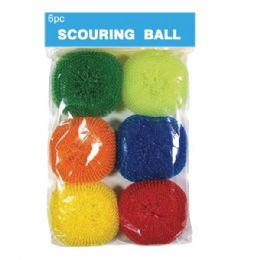96 Units of 6 Piece Plastic Scrubber - Scouring Pads & Sponges