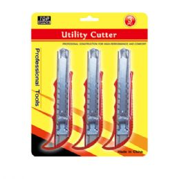 48 Units of 3 Pack Box Cutter - Box Cutters and Blades