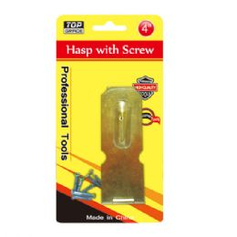 """108 Units of 4"""" Hasp With Screw - Drills and Bits"""