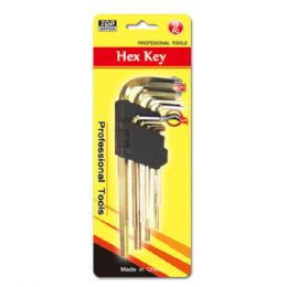 48 Units of 9 piece premium hex key set - Hex Keys