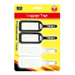96 Units of Four Pack Luggage Tag - Travel & Luggage Items