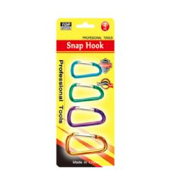 96 Units of 4 Pack snap hook - Hooks