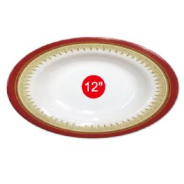 "96 Units of 12""melamine oval plate - Plastic Bowls and Plates"
