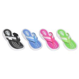 36 Units of Ladies Assorted Sporty Wedge Flip Flops - Women's Flip Flops