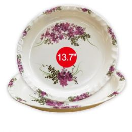 "36 Units of 13.7""melamine round tray - Plastic Bowls and Plates"