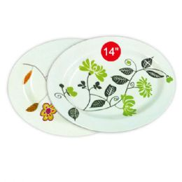 "48 Units of 14"" Melmine plate - Plastic Bowls and Plates"