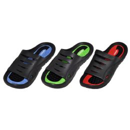 36 Units of Men's Assorted Sports Slide Sandals - Men's Flip Flops and Sandals