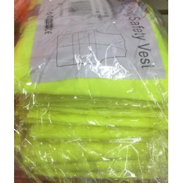 72 Units of Super Reflective Safety VesT--Yellow OnlY- Yellow Saftey Vest - Safety Helmets