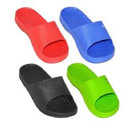 48 Units of Kids Slip On Shower Shoes - Unisex Footwear