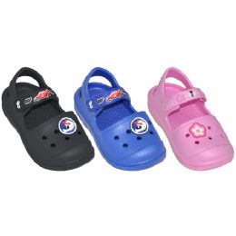 48 Units of Toddler Rubber Garden Sandals - Unisex Footwear
