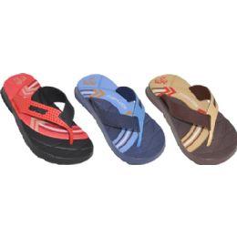 48 Units of Boys Sport Flip Flops - Boys Flip Flops & Sandals