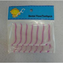 72 Units of 50 Piece Dental Floss Toothpicks - Toothpicks