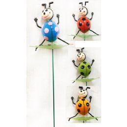 48 Units of Wholesale Garden Stake Decoration 3D Ladybug - Garden Decor