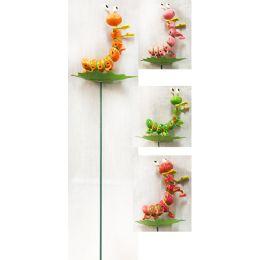 48 Units of Garden Stake Decoration 3D Silkworm - Garden Decor