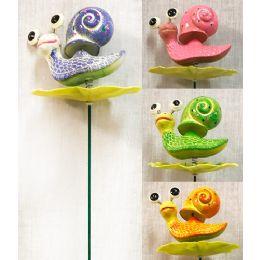 48 Units of Wholesale Garden Stake Decoration 3D Snail - Garden Decor
