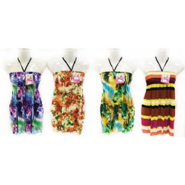 12 Units of Wholesale Kids Summer Sun Dress Tube Style with Neck Strap - Girls Dresses and Romper Sets