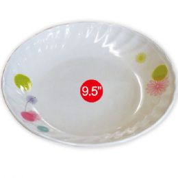 "96 Units of 9.5""melamine soup plate - Plastic Bowls and Plates"