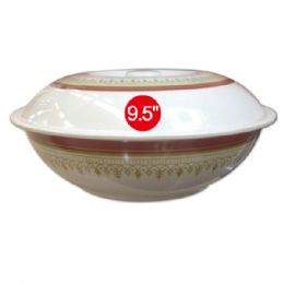 "48 Units of 9.5""Melamine bowl With lid - Plastic Bowls and Plates"