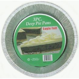 50 Units of 3pc Deep Pie Pan - Frying Pans and Baking Pans