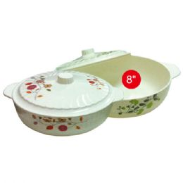"""48 Units of 8""""melamine Bowl With Lid - Plastic Bowls and Plates"""