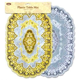96 Units of Plastic Table Mat Oval - Placemats