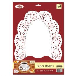 144 Units of Doilies Oval Twelve Count - Placemats and Doilies