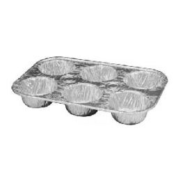 200 Units of 6 Cavity muffin pan - Frying Pans and Baking Pans