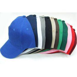 144 Units of Plain Baseball Caps - Baseball Caps & Snap Backs