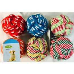 24 Units of Wholesale Dog/ Pet Rope Knot Ball - Pet Toys