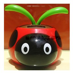 24 Units of Wholesale Solar Powered Bobbing Toy Lady Bugs - Garden Decor