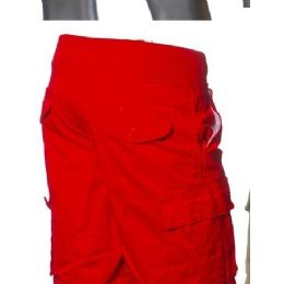 12 Units of Men's Fashion Cargo Shorts In Red Only - Mens Shorts
