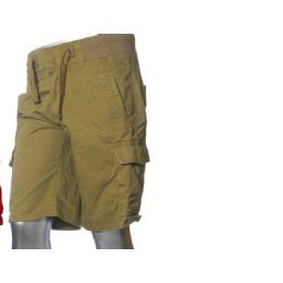 12 Units of Men's Fashion Cargo Shorts In Khaki Only - Mens Shorts