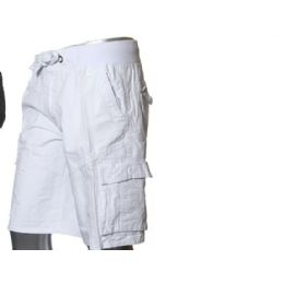 12 Units of MEN'S FASHION CARGO SHORTS IN WHITE ONLY - Mens Shorts