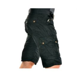 12 Units of MEN'S CARGO SHORTS WITH BELT - BLACK ONLY - Mens Shorts