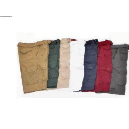 12 Units of MEN'S CARGO SHORTS BURGUNDY COLOR - Mens Shorts