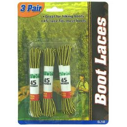 72 Units of 3 Pair boot laces - Footwear Accessories