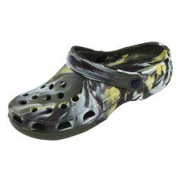 36 Units of Men's Clog Garden Shoe in Camo - Men's Flip Flops and Sandals