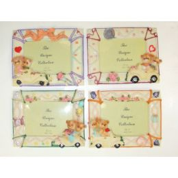 """72 Units of 3.5""""x5"""" Bears On Wheels Picture Frame - Picture Frames"""