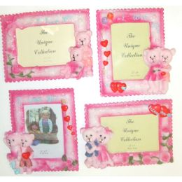 """72 Units of 3.5""""x5"""" Loving Bears Picture Frame - Picture Frames"""
