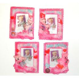 """100 Units of 3""""x2"""" Loving Bears Picture Frame - Picture Frames"""