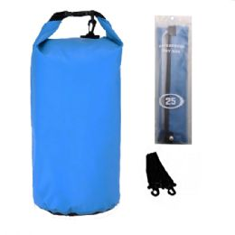 12 Units of Camping Waterproof Bag 25 Liter Blue - Camping Gear