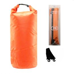 12 Units of CAMPING 002 WATERPROOF BAG 20 LITER ORANGE