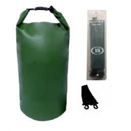 12 Units of Camping 002 Waterproof Bag 20 Liter Green - Camping Gear